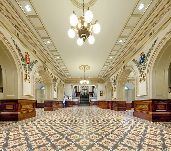 Main lobby of the Parliament Building